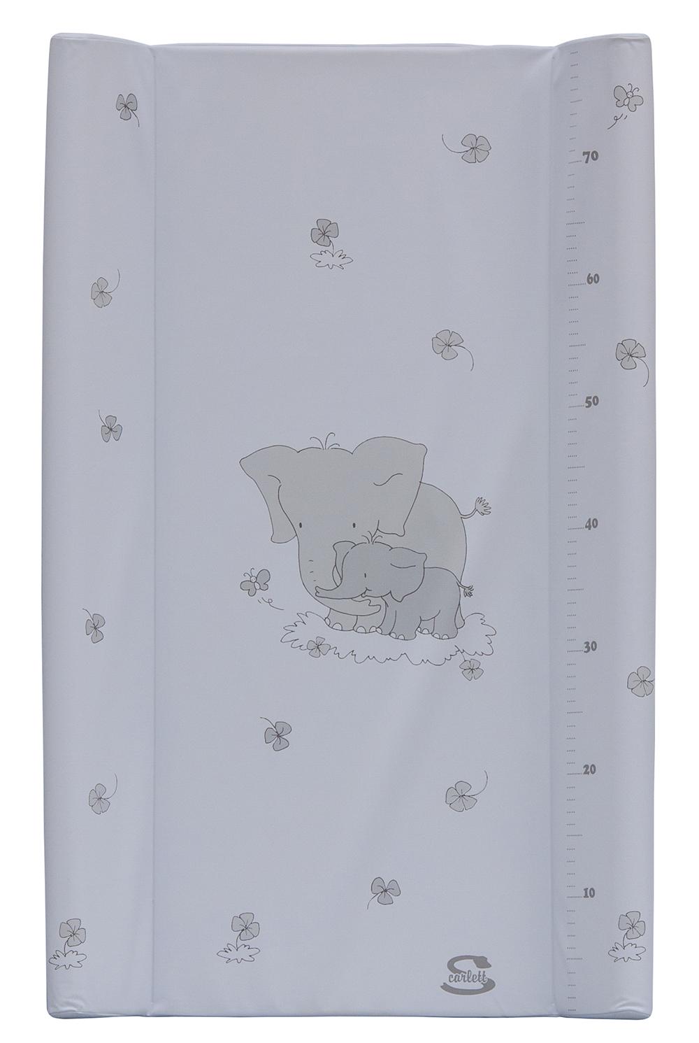 Přebalovací podložka s kapsou Scarlett Slon 80 x 50 cm - bílá