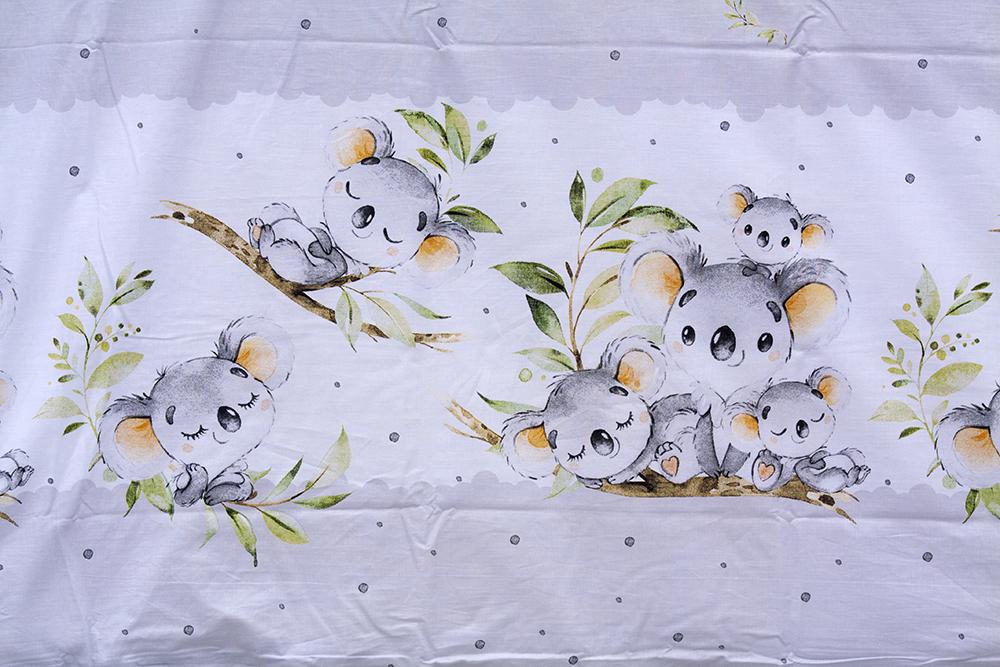Scarlett, Dětské povlečení 2dílné Scarlett Koala - šedá 100 x 135 cm