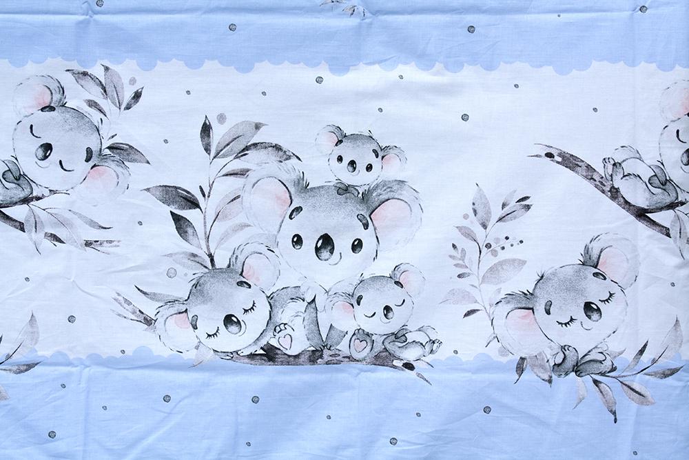 Scarlett, Dětské povlečení 2dílné Scarlett Koala - modrá 100 x 135 cm