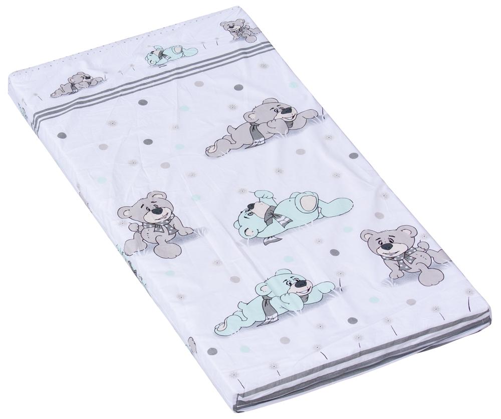 Molitanová matrace do postýlky Scarlett Patrik - tyrkysová, 120 x 60 x 6 cm