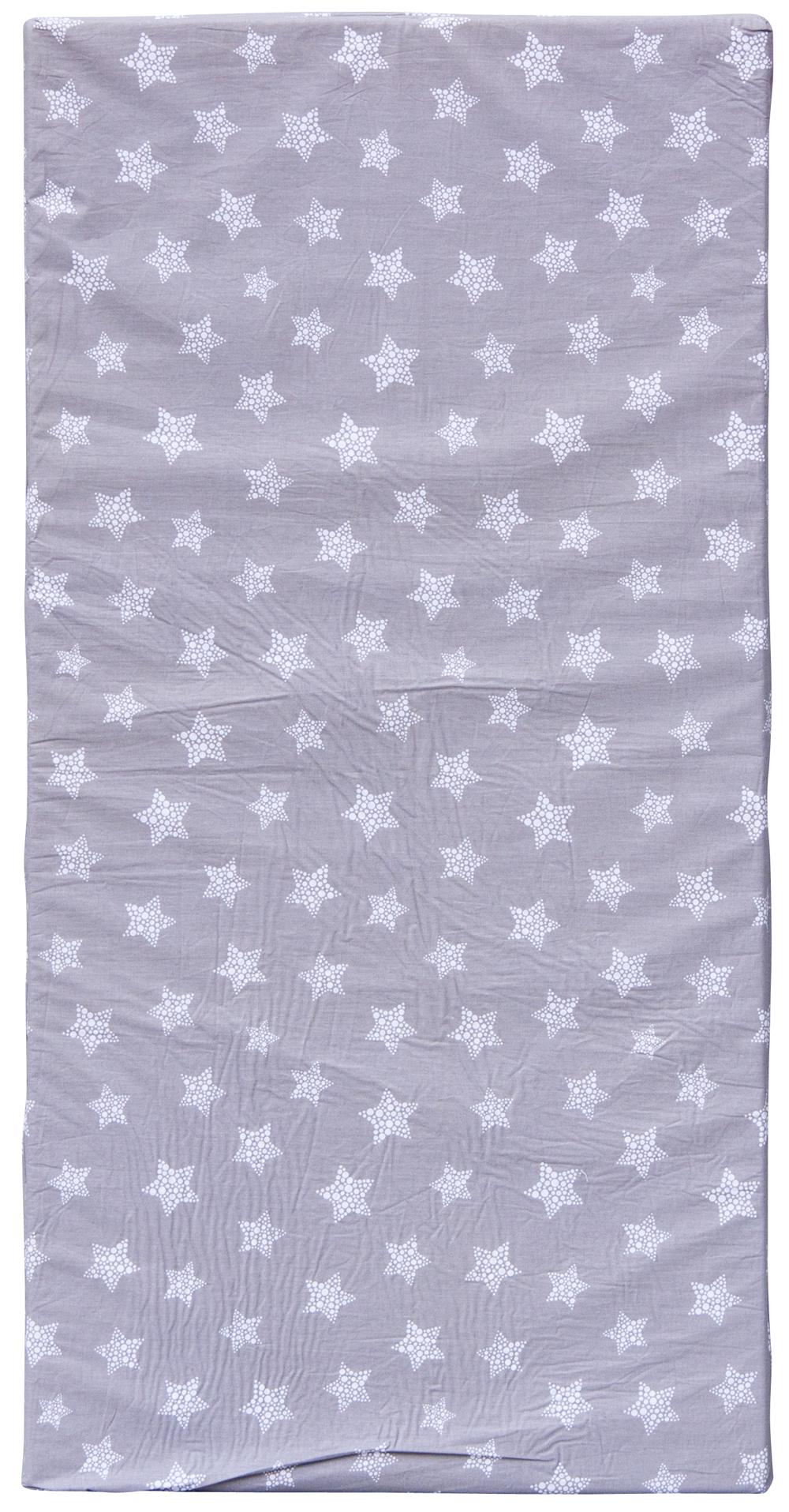 Scarlett, Molitanová matrace do postýlky Scarlett Hvězdička - šedá, 120 x 60 x 6 cm
