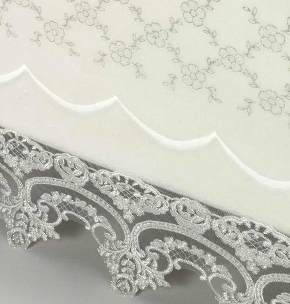 Scarlett, Španělská deka Romantic 810 - bílá, 220x240 cm + 2potahy na polštářky 50x70cm
