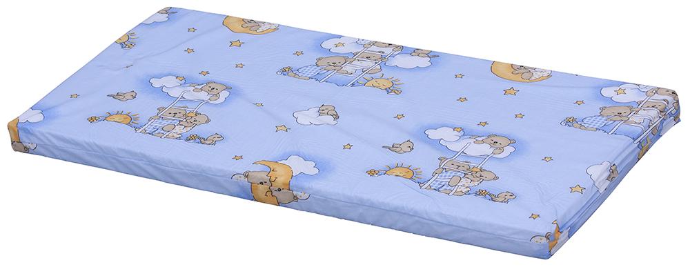 Scarlett, Molitanová matrace do postýlky Scarlett Mráček - modrá, 120 x 60 x 6 cm