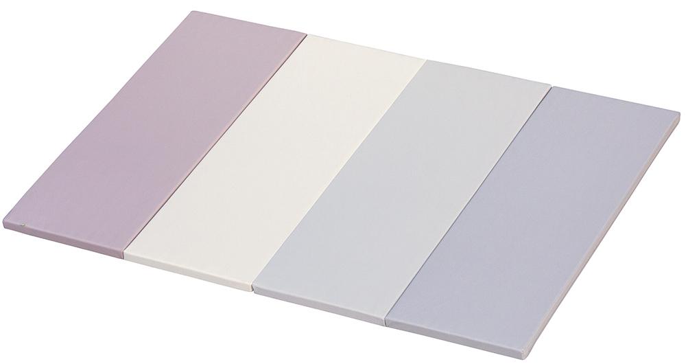 Skládací žíněnka  Scarlett Dáša - URB/G – šedo-růžová, 200 x 140 x 4 cm