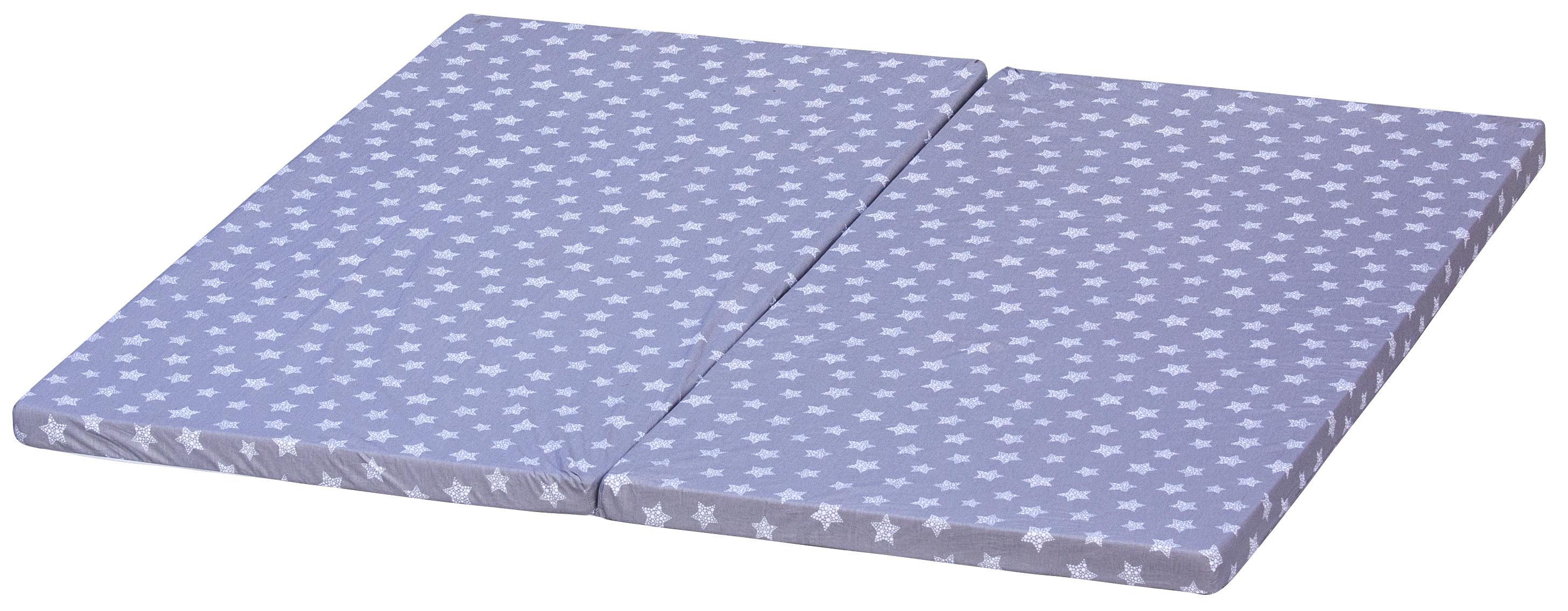 Matrace Hvězdička do ohrádky Diana - šedá, 180 x 180 cm