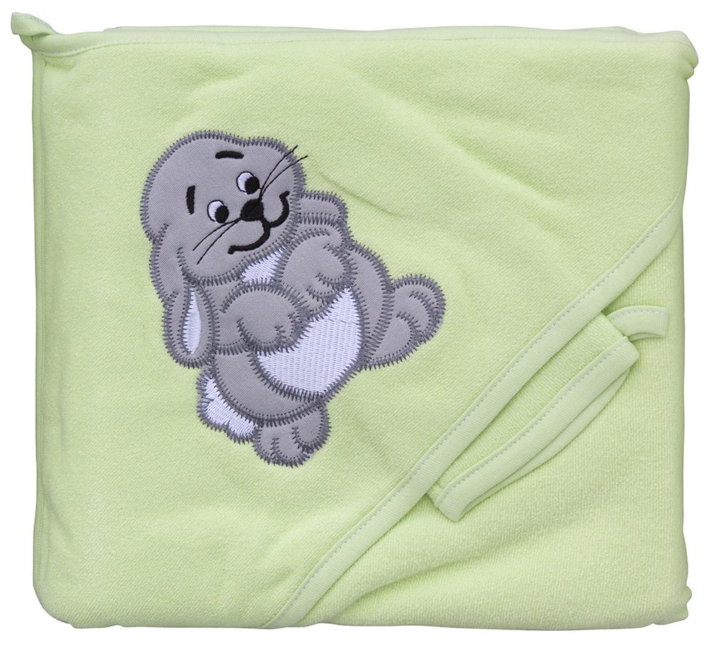 Froté ručník - Scarlett zajíc s kapucí - zelená