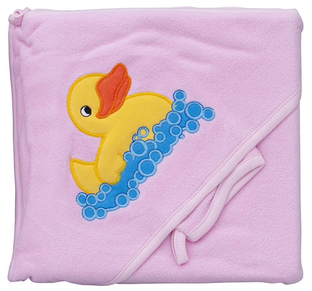 Froté ručník - Scarlett kačenka s kapucí - růžová