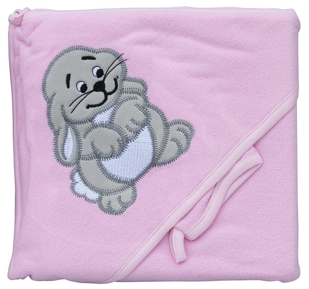 Froté ručník - Scarlett zajíc s kapucí - růžová