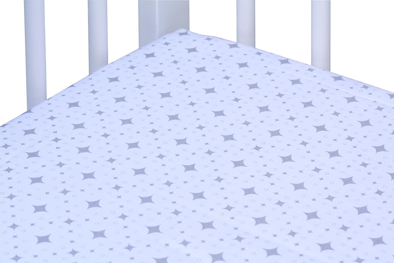 Scarlett, Prostěradlo do postýlky - Scarlett Orion - bílá 120 x 60 cm