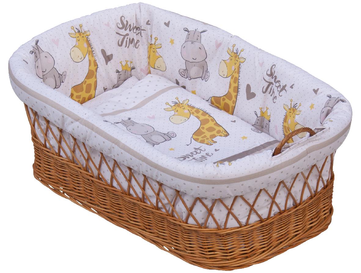 Proutěný košík na miminko Scarlett Nebula - béžová