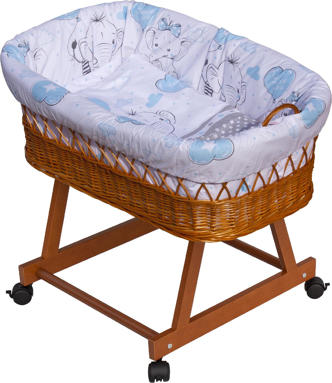 Proutěný košík na miminko Scarlett Gusto - modrá