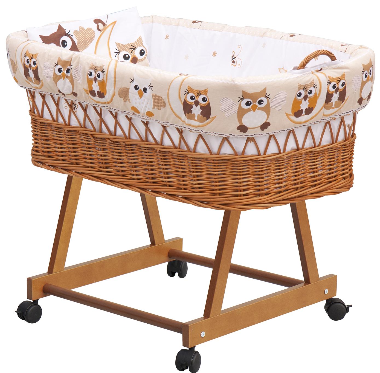 Proutěný košík na miminko Scarlett SOVA - béžová