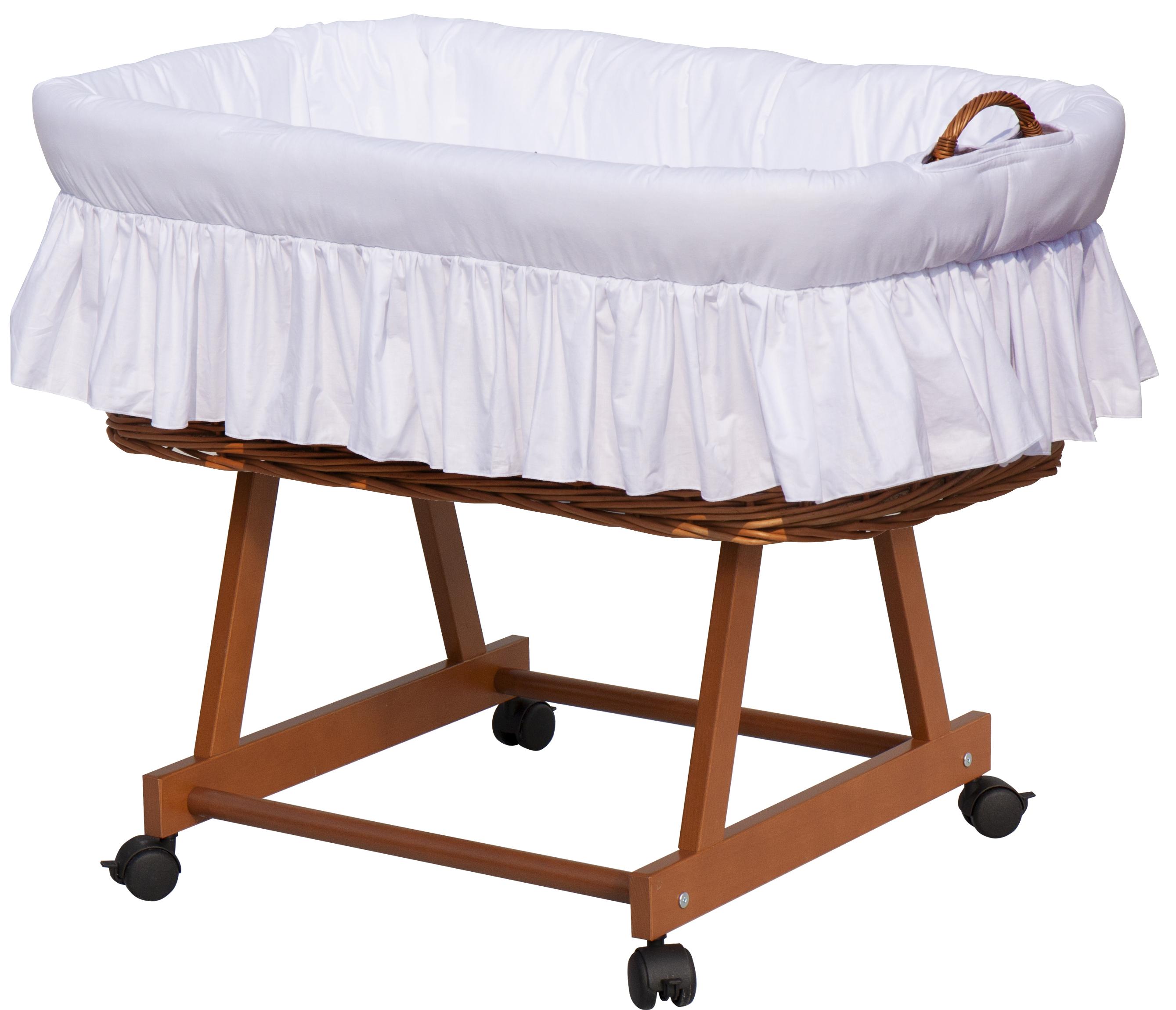 Proutěný košík na miminko Scarlett Péťa - bílá