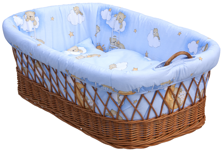 Proutěný košík na miminko Scarlett Mráček  - modrá