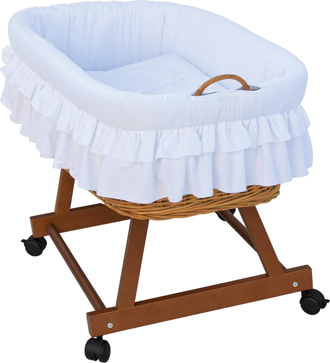 Proutěný košík na miminko Scarlett Martin - bílá