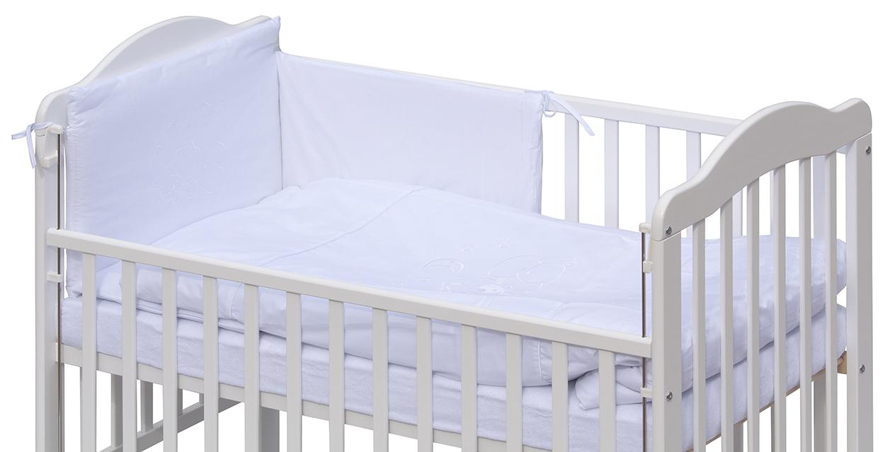 Scarlett, Postýlka 120 x 60 cm s luxusní kompletní výbavou Scarlett Měsíček - bílá