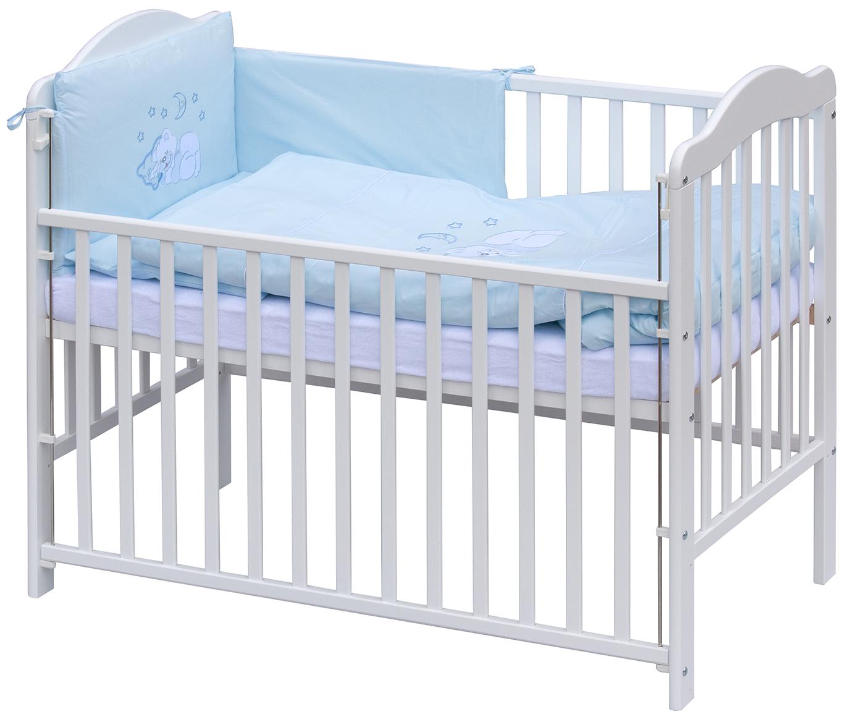 Scarlett, Postýlka 120 x 60 cm s luxusní kompletní výbavou Scarlett Měsíček - modrá