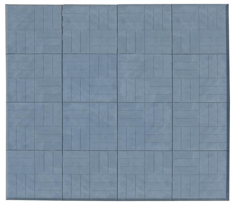 Scarlett, Skládací žíněnka Scarlett Puzzle  – mramor modrá, 180 x 180 x 2