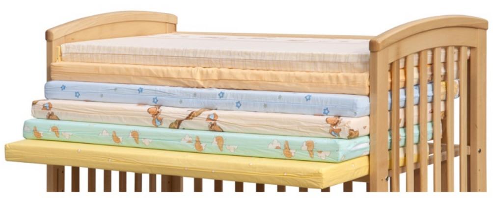 Molitanová matrace do postýlky Scarlett barevná, 120 x 60 x 6 cm