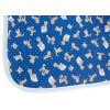 Hrací deka Scarlett PINA - modrá, 146 x 146 cm