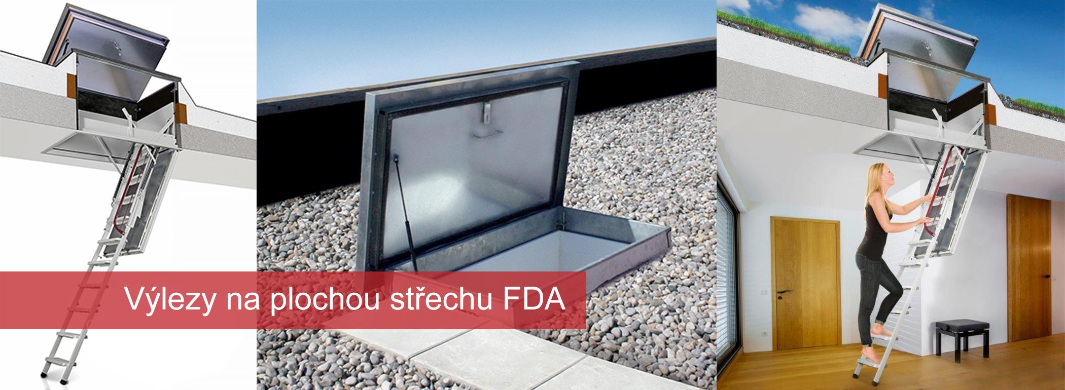 Výlez na plochou střechu FDA