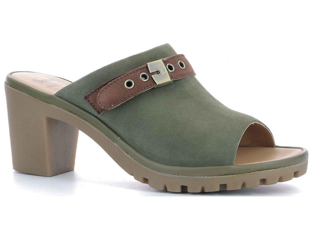 Scholl CALAVI - dámské pantofle na podpatku (Velikost 37)