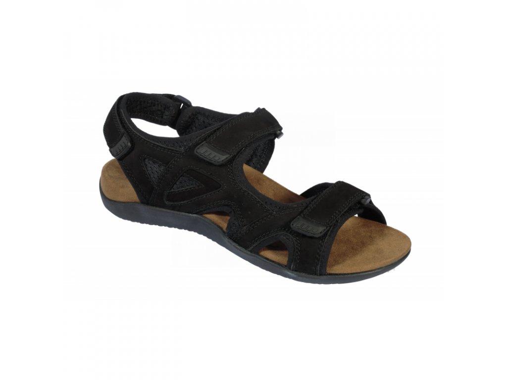 Scholl SPINNER černé zdravotní sandály (Velikost 41)