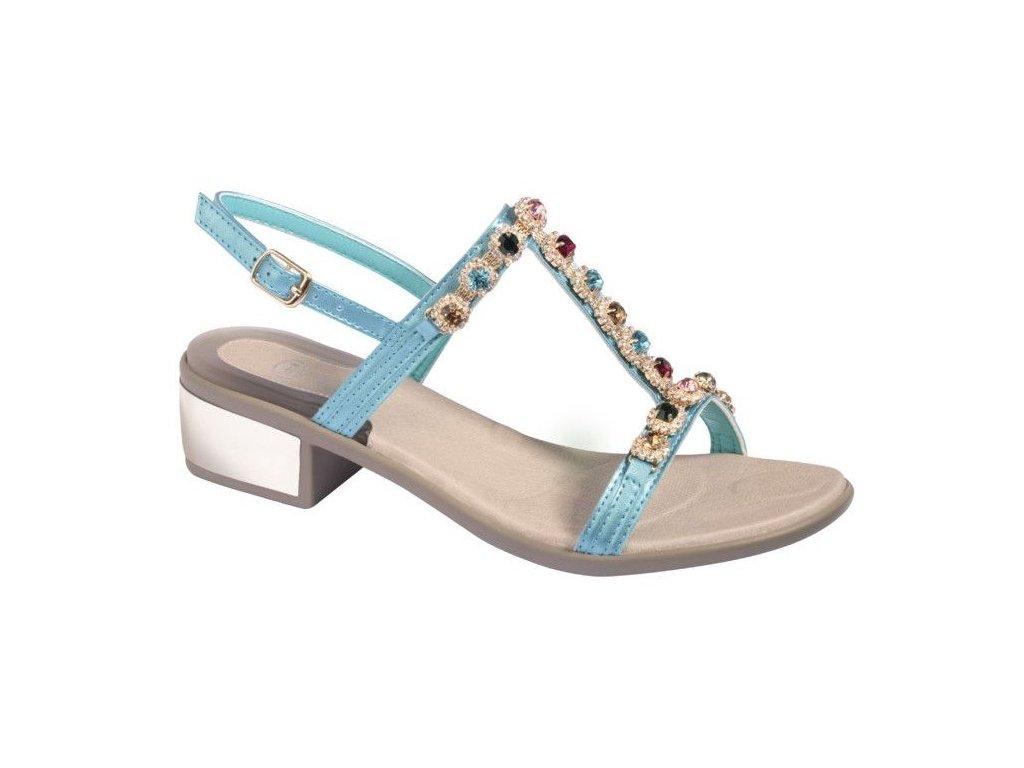 Scholl FLORALIE - dámské sandále na podpatku (Velikost 38)