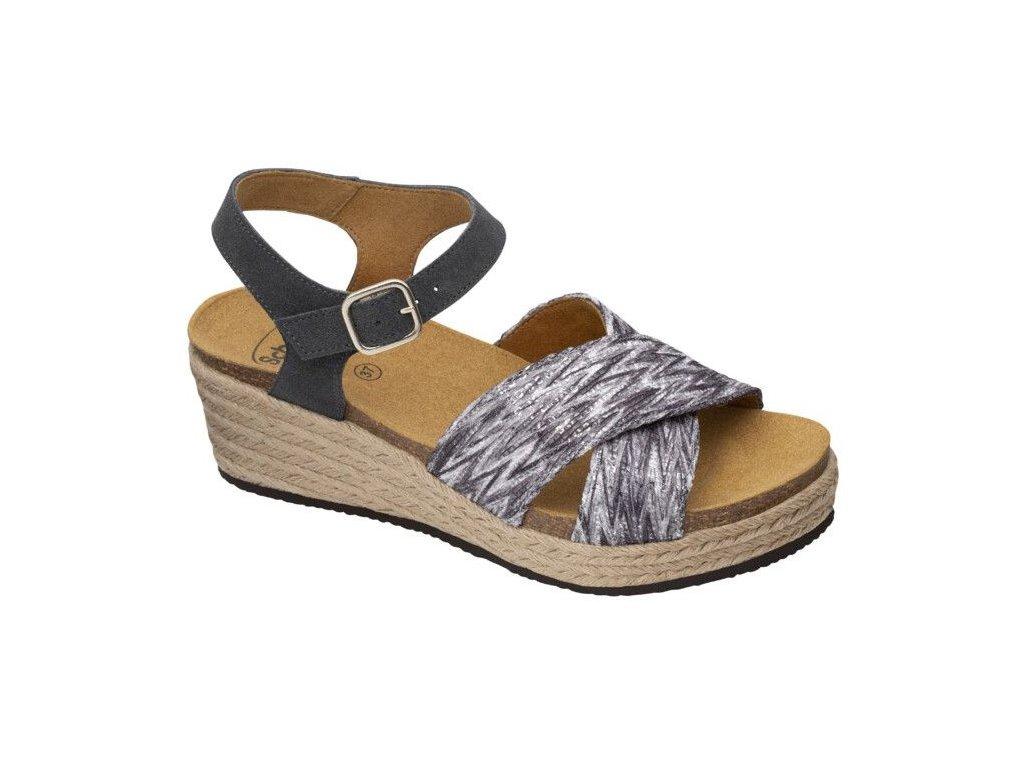Scholl SEVILLA SANDAL - dámské sandále na klínku (Velikost 41)