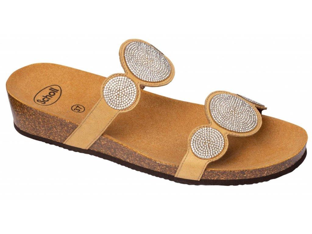 Scholl SHARON 2 STRAPS - dámské sandále  na klínku (Velikost 37)