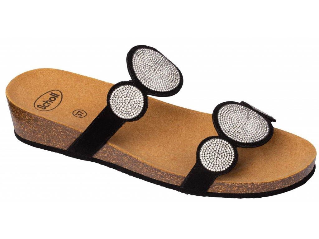 Scholl SHARON 2 STRAPS - dámské pantofle (Velikost 37)