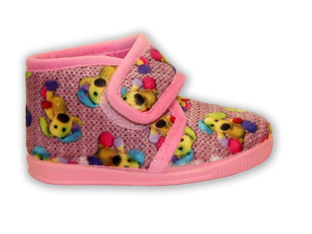 Patrizia dětské papuče - růžové (Velikost 20)