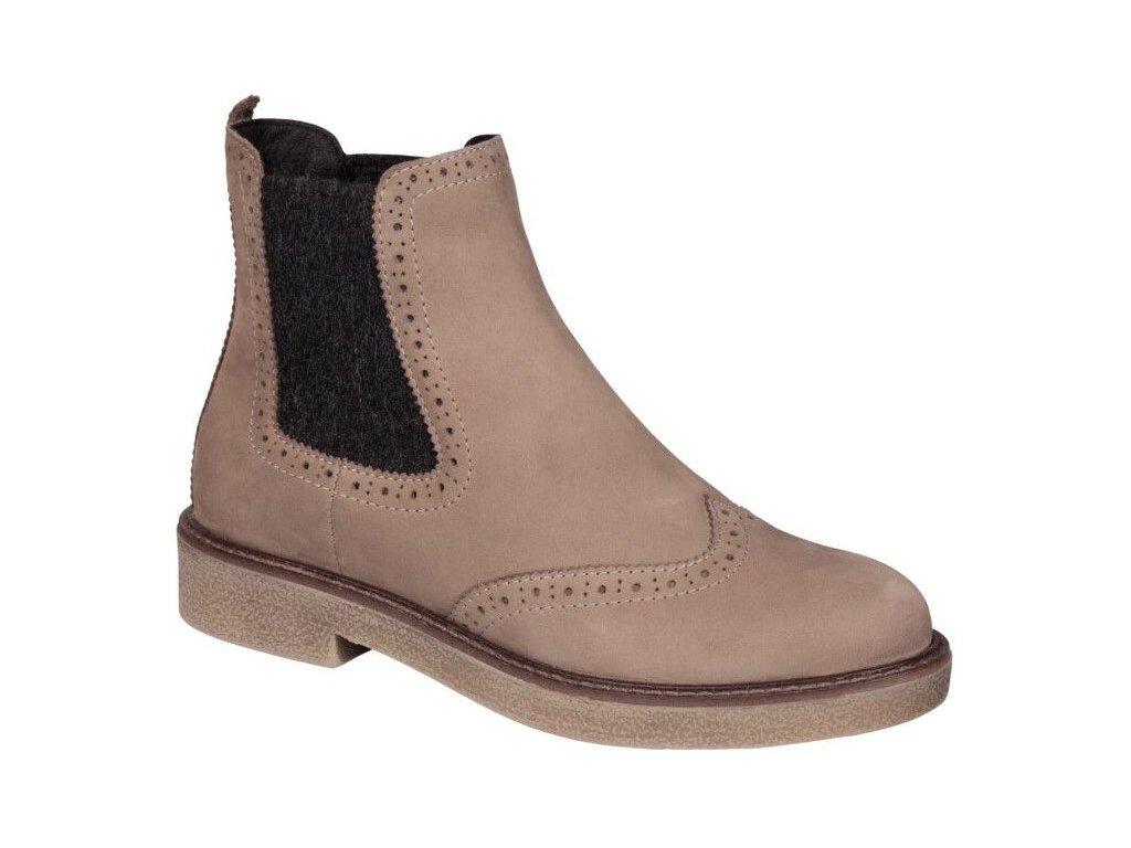 Scholl RUDY TAUPE - dámská kotníková obuv (Velikost 38)