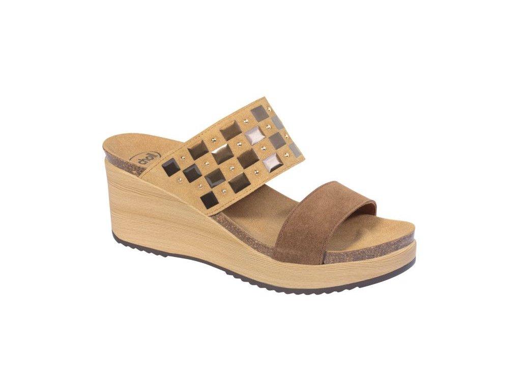 Scholl MOIRA SueOrnam -dámské pantofle na klínku (Velikost 37)