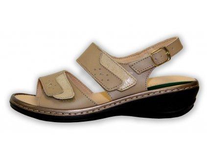Patrizia dámské sandále na klínku - béžové (Velikost 38)