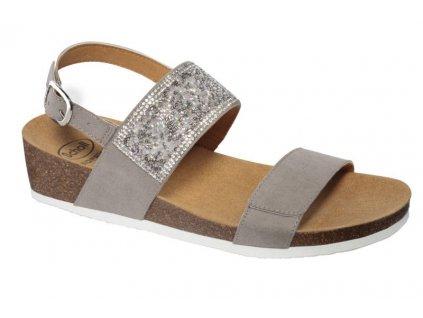 Scholl CECILIA SAND  MicroStrass - dámské sandále (Velikost 36)