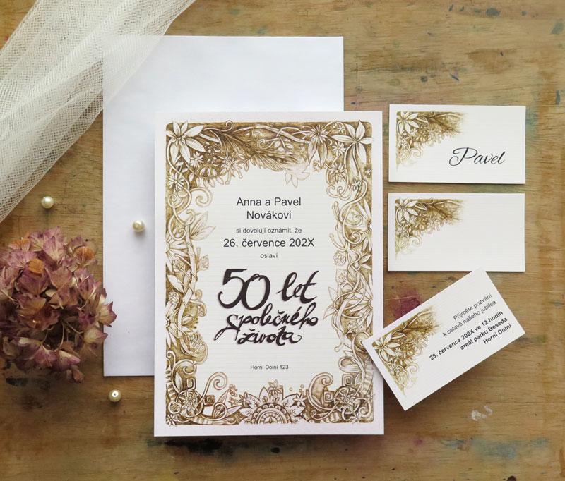 Svatební výročí - pozvánky k oslavě