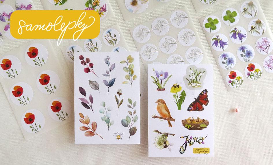 papírové samolepky do diářů a pro kreativní tvoření
