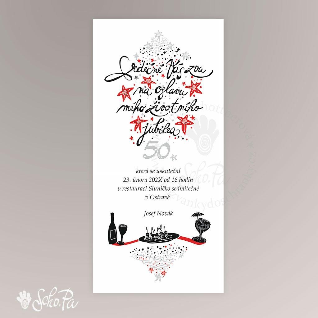 pozvanka s kaligrafii
