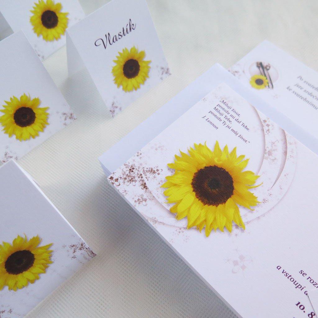 360 svatebni oznameni v022 slunecnice solo