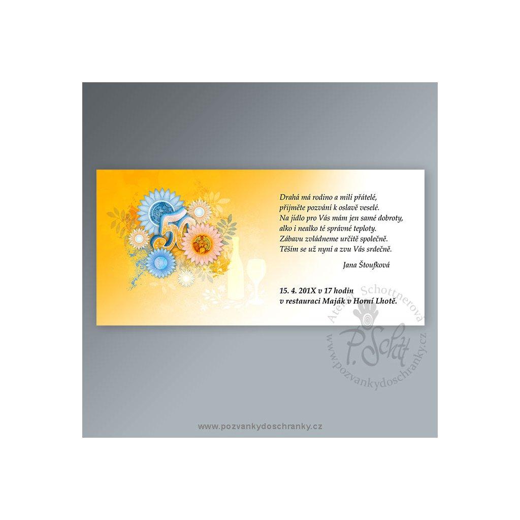 pozvánka V164 (barva modrá, výročí 30)