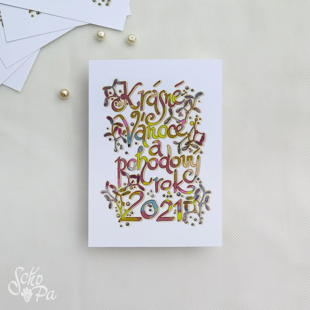 vánoční pohlednice s krasopisem2