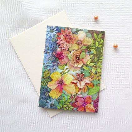 přání blahopřání květinové V412 Duha