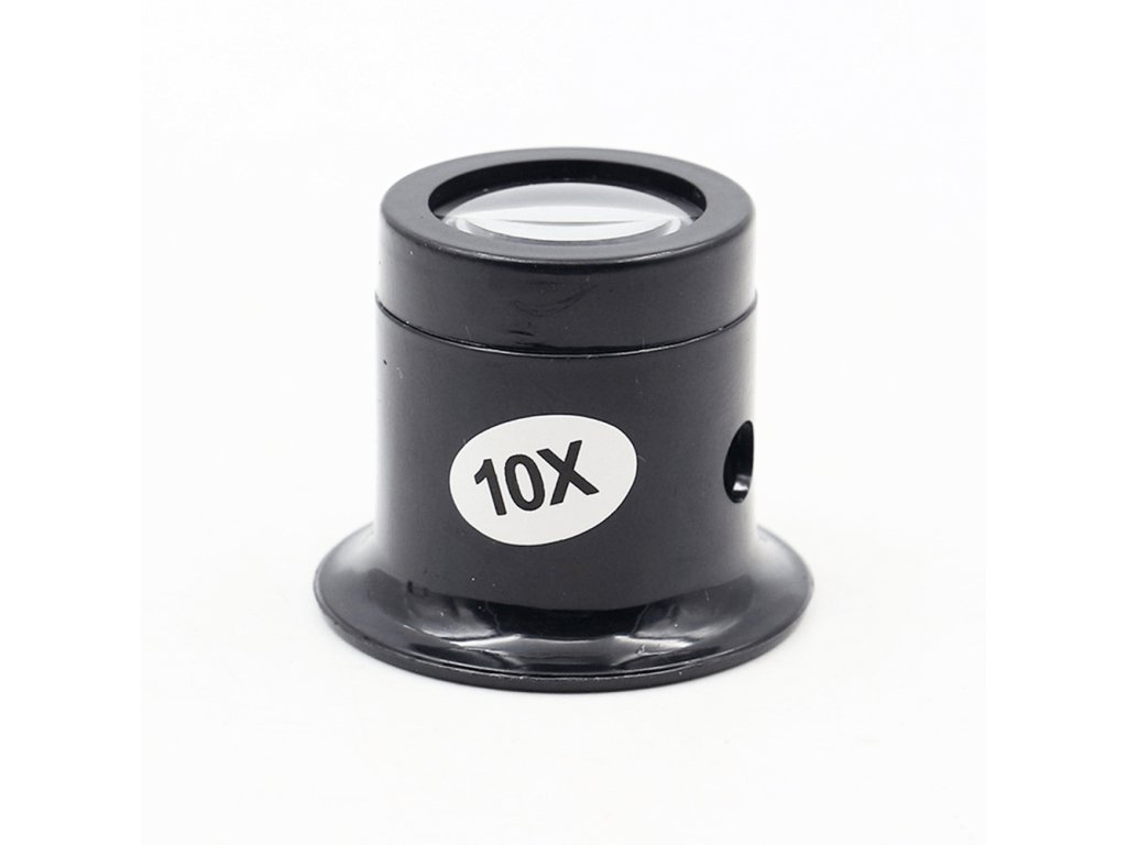 Black Magnifying Lens Loupe ABS 10x Repair Tools Watch Microscope Jewelry Testing Instrument Tube Magnifier Glass