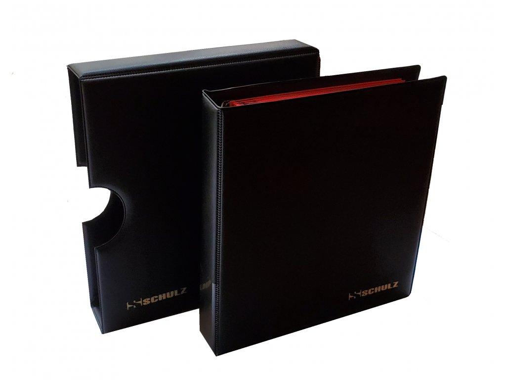 Album na mince s kazetou + 10 listů a mezilistů, černá barva