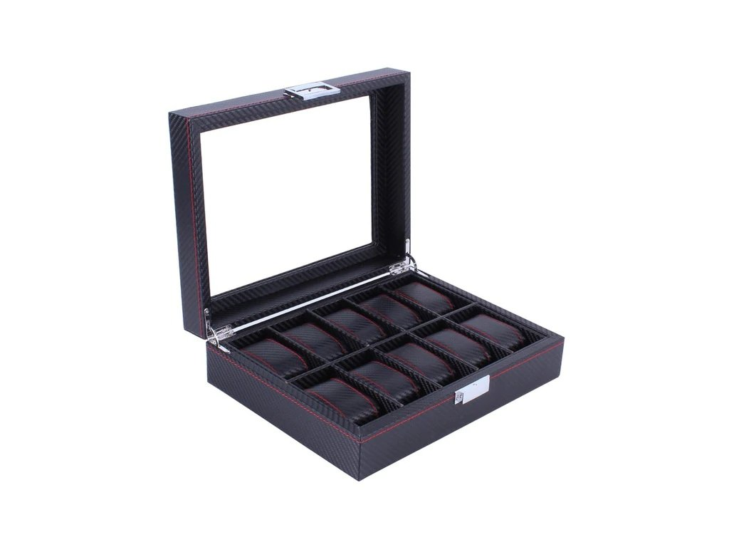 Wooden Leather 8 10 12 Grids Watch Display Sunglass Case Durable Packaging Holder Jewelry Collection Storage.jpg 640x640