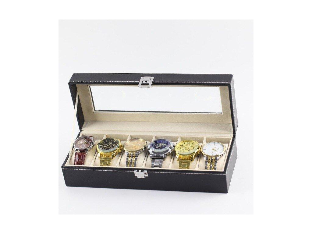 Black PU Leather 2 3 6 10 12 8 2 Slots Wrist Watch Display Box Storage.jpg 640x640