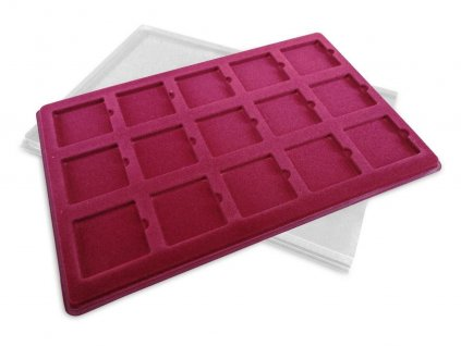 Coin Medal Tray Cover SCHULZ Red Collection Displaysd