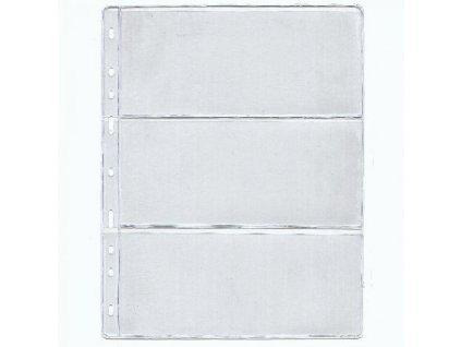 List do alba STANDARD na bankovky, 3 pole