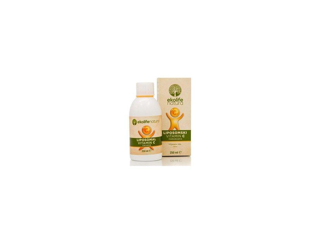 Liposomal Vitamin C 500mg 250ml pomeranč (Lipozomální vitamín C)
